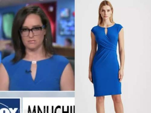 kennedy, outnumbered, blue keyhole sheath dress