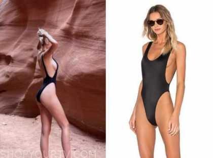 amanda stanton, the bachelor, black one-piece swimsuit