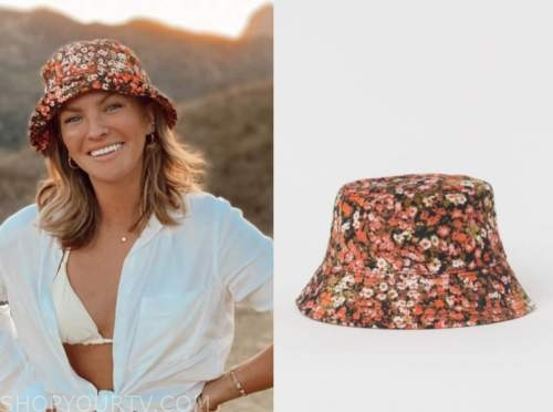 becca tilley, the bachelor, floral bucket hat