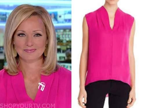 sandra smith, hot pink top, america's newsroom