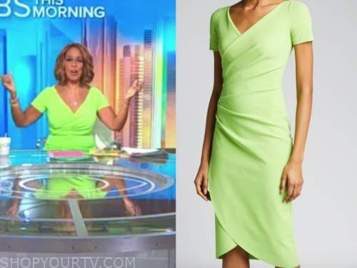 gayle king, lime green dress, cbs this morning