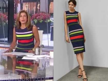 hoda kotb, the today show, striped knit dress