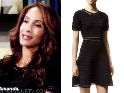 lily winters, the young and the restless, black knit dress, christel khalil