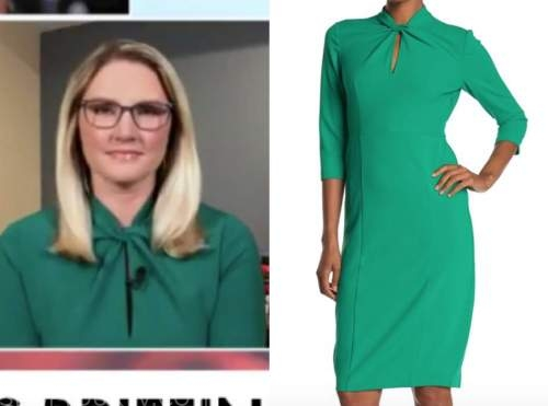 marie harf, green twist neck dress, outnumbered
