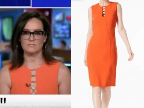 kennedy, orange cutout sheath dress, the five