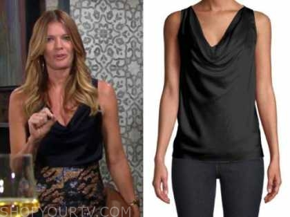 phyllis newman, michelle stafford, silk drape top, the young and the restless