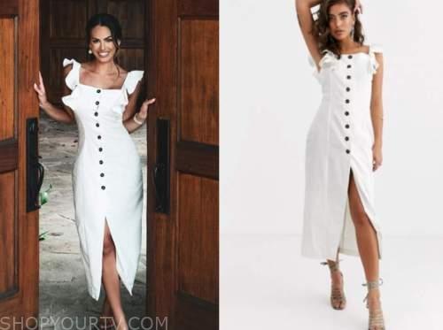 kacie mcdonnell, fox nation, mansion global, white midi dress