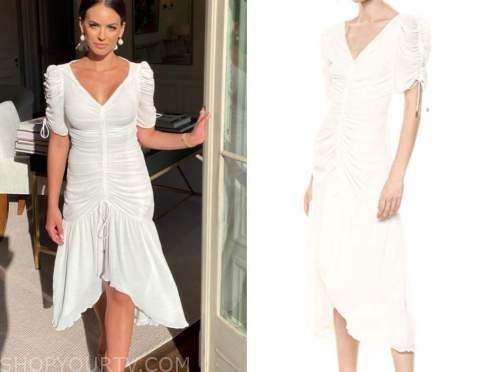 kacie mcdonnell, fox nation, mansion global, ivory ruched dress