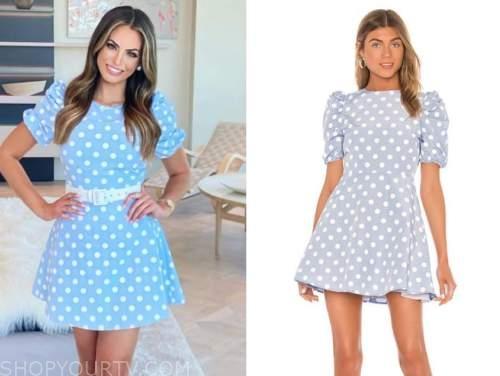 kacie mcdonnell, blue polka dot dress, mansion global, fox nation