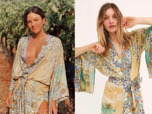 becca tilley, floral maxi robe, the bachelor