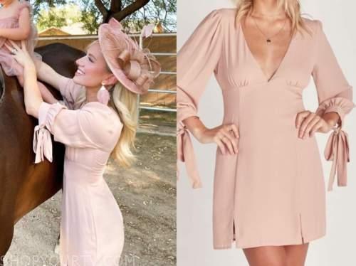 lauren burnham, blush pink mini dress, the bachelor