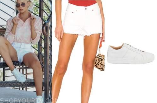 haley ferguson, white denim shorts, white sneakers, the bachelor