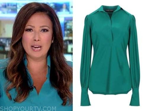 julie banderas, america's newsroom, green blouse