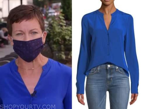 stephanie gosk, blue silk blouse, the today show