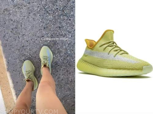 morgan stewart, green sneakers, instagram