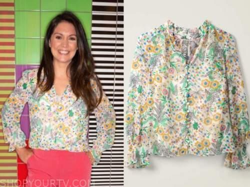 laura tobin, good morning britain, floral blouse