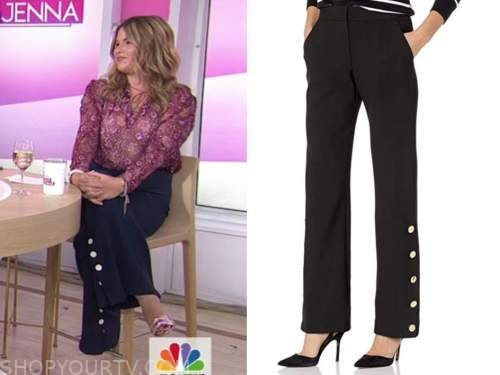 jenna bush hager, the today show, side button pants