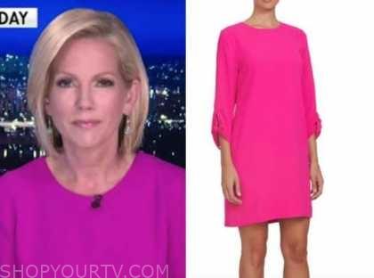 fox news at night, shannon bream, hot pink dress