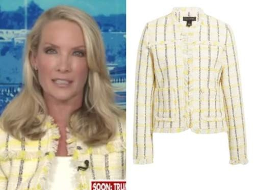 dana perino, the daily briefing, yellow check tweed jacket
