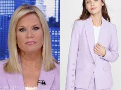 the story, martha maccallum, lilac purple blazer