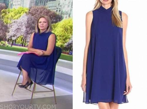 the today show, dylan dreyer, blue mock neck dress