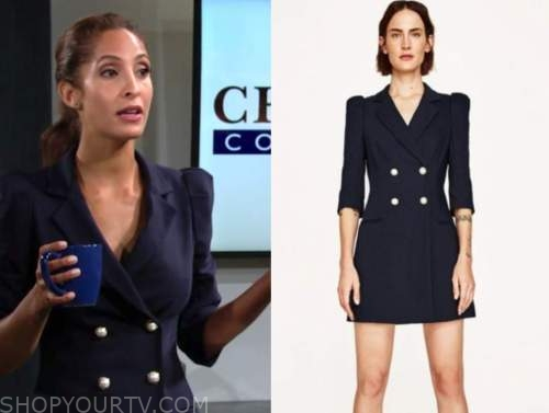 lily winters, the young and the restless, blazer dress, christel khalil
