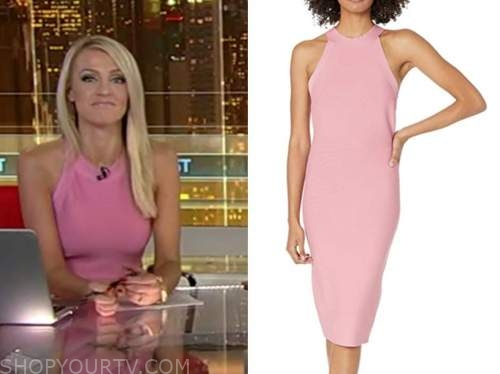 carley shimkus, fox and friends, pink halter dress