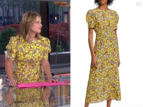 savannah guthrie, yellow floral midi dress, the today show