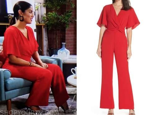 dr. viviana coles, red twist jumpsuit, married at first sight