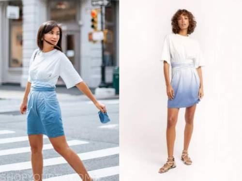 caila quinn, the bachelor, blue ombre dress