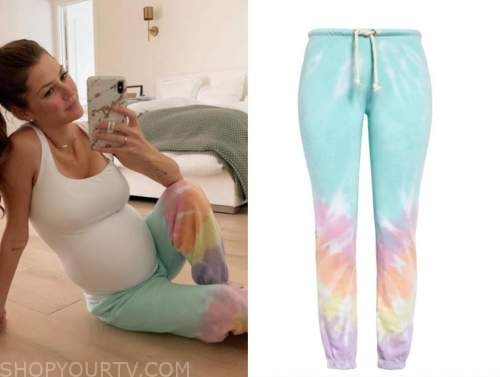 ashlee frazier, rainbow tie dye sweatpants, the bachelor