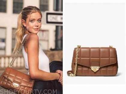 the bachelor, brown quilted purse, the bachelor