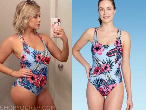 jenna cooper, blue floral swimsuit, the bachelor