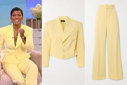 tamron hall, tamron hall show, yellow pant suit
