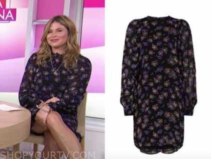 jenna bush hager, purple floral dress, the today show
