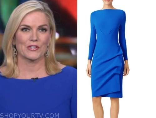 marianne rafferty, fox and friends, blue boatneck dress