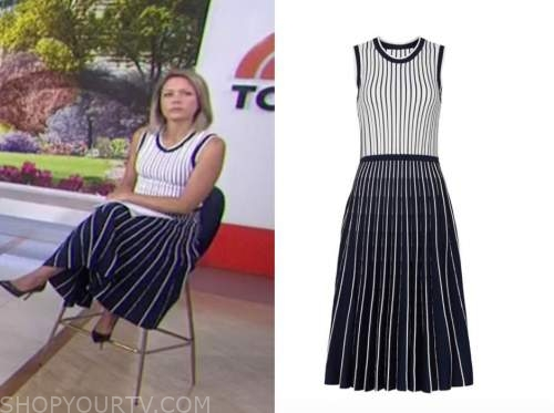 dylan dreyer, the today show, striped knit dress
