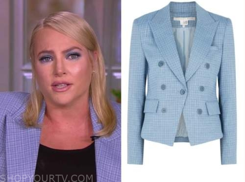 meghan mccain, the view, blue plaid blazer