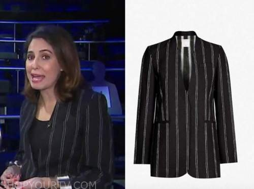 cecila vega, good morning america, black striped jacket