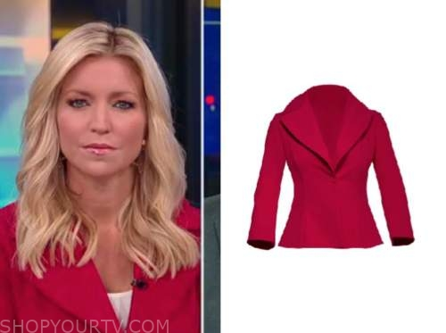 ainsley earhardt, fox and friends, red jacket
