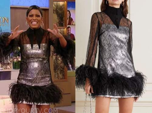 tamron hall, tamron hall show, sequin feather dress, birthday