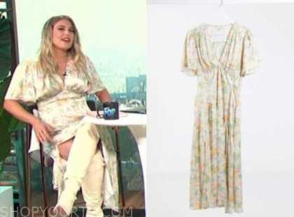 carissa culiner, E! news, ivory floral midi dress