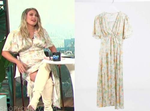 carissa culiner, E! news, ivory floral midi dress