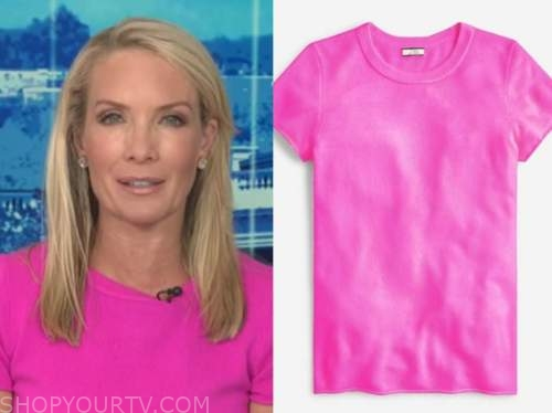 dana perino, hot pink cashmere short sleeve sweater, the daily briefing