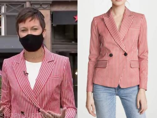 stephanie gosk, the today show, red striped blazer