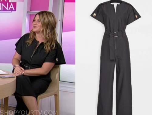 the today show, jenna bush hager, black jumpsuit