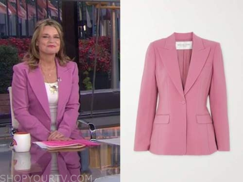 savannah guthrie, the today show, pink blazer