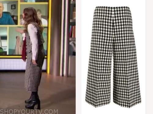 drew barrymore, drew barrymore show, houndstooth pants