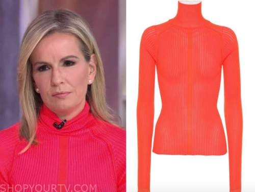 dr. jennifer ashton, good morning america, red turtleneck