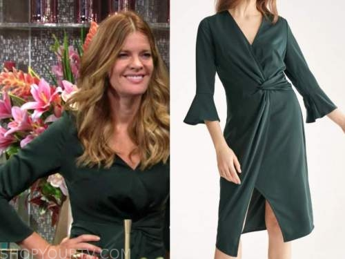 michelle stafford, phyllis newman, the young and the restless, green twist dress